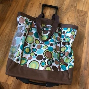 Utility Rolling Tote Bag